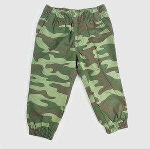 Camouflage green pants